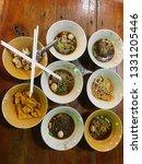 noodles with pork and pork... | Shutterstock . vector #1331205446