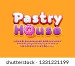 vector tasty emblem pastry... | Shutterstock .eps vector #1331221199