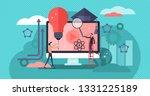 edtech vector illustration.... | Shutterstock .eps vector #1331225189