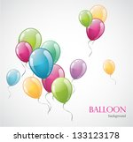 colored balloon isolated on... | Shutterstock .eps vector #133123178