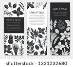 banners template with herbs and ... | Shutterstock .eps vector #1331232680
