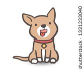 young cartoon brown dogs...   Shutterstock .eps vector #1331233040