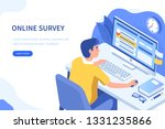 online survey or questionnaire... | Shutterstock .eps vector #1331235866