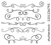 ornament frames and scroll... | Shutterstock .eps vector #1331236793