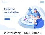 financial consultation concept. ... | Shutterstock .eps vector #1331238650