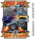 speed shop hot rod muscle car... | Shutterstock .eps vector #1331244770