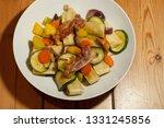 dish with swabian pocket pasta...   Shutterstock . vector #1331245856