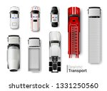 special vehicles top view... | Shutterstock .eps vector #1331250560