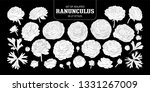 set of isolated white... | Shutterstock .eps vector #1331267009