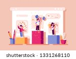 winners ranking podium vector... | Shutterstock .eps vector #1331268110