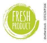 eco fresh product label  round... | Shutterstock .eps vector #1331269166