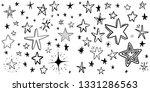 hand drawn stars pattern...   Shutterstock .eps vector #1331286563