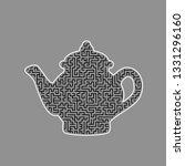 tea maker sign. vector. black... | Shutterstock .eps vector #1331296160