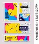 vector set of creative bright... | Shutterstock .eps vector #1331312279