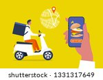 food delivery service. mobile... | Shutterstock .eps vector #1331317649