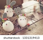 easter decoration for home ... | Shutterstock . vector #1331319413