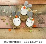 easter decoration for home ... | Shutterstock . vector #1331319416