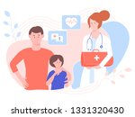 pretty woman physician with... | Shutterstock .eps vector #1331320430