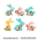 happy easter vector... | Shutterstock .eps vector #1331335103