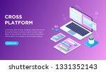 web development and coding....   Shutterstock .eps vector #1331352143