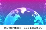 earth planet globe in the space ... | Shutterstock .eps vector #1331360630