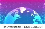 digital technology banner pink... | Shutterstock .eps vector #1331360630