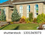fragment of luxury house with... | Shutterstock . vector #1331365073