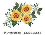 spring floral frame | Shutterstock .eps vector #1331366666