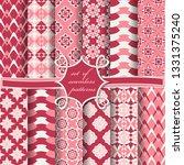 set of seamless vector paper...   Shutterstock .eps vector #1331375240