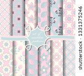 set of seamless abstract vector ...   Shutterstock .eps vector #1331375246