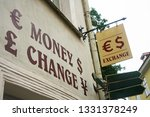 "sign ""change"" in the streets of ... 