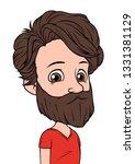 cartoon brunette boy character... | Shutterstock .eps vector #1331381129