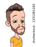 cartoon brunette punk boy... | Shutterstock .eps vector #1331381183