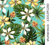 seamless floral pattern of... | Shutterstock . vector #1331391200