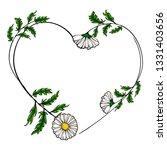 white flower chamomile bouquet... | Shutterstock .eps vector #1331403656