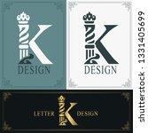 elegant letter k. graceful...   Shutterstock .eps vector #1331405699