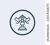 winning award vector icon on...
