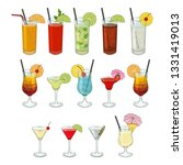 big collection of cocktails.... | Shutterstock .eps vector #1331419013