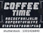 font handcrafted vector... | Shutterstock .eps vector #1331426840