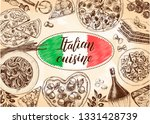 background with ink hand drawn... | Shutterstock .eps vector #1331428739