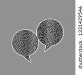 two speech bubble sign. vector. ... | Shutterstock .eps vector #1331429546