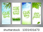 set of banners for earth day.... | Shutterstock .eps vector #1331431673