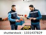 fresh vegetables and fruit in... | Shutterstock . vector #1331437829
