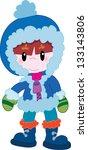 boy in winter clothes | Shutterstock . vector #133143806