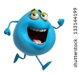 3d cartoon cute blue monster | Shutterstock . vector #133144199