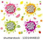 fresh smoothies logo emblem... | Shutterstock .eps vector #1331444810