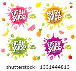 fresh juice logo emblem bright... | Shutterstock .eps vector #1331444813