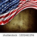 american flag on brown... | Shutterstock . vector #1331461196