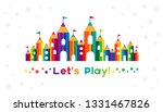 kids castle from colorful... | Shutterstock .eps vector #1331467826