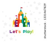 kids castle from colorful... | Shutterstock .eps vector #1331467829